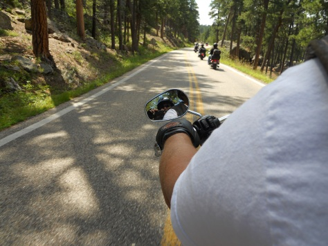 Self-portrait -- Iron Mountain Road, Sturgis Week 2013