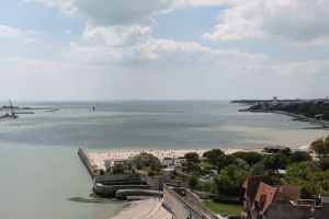 The smaller of the two main beaches of La Rochelle