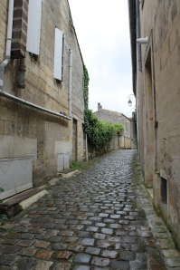 One of the tiny streets of Saint Émilion