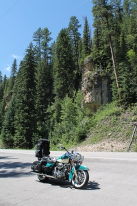 Stretching Break on the Way to Sturgis 2013