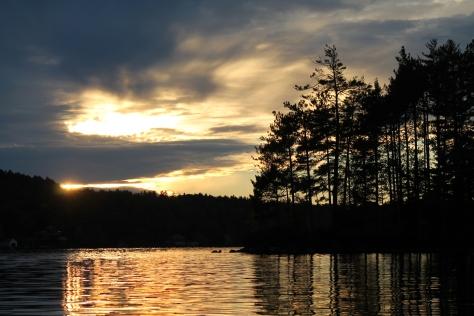 Sunset on Lake Sunapee