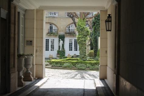 Private courtyard, Quai Voltaire, Paris