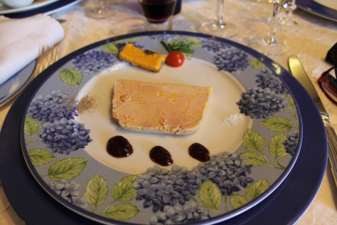 Entrée (first course): fois gras