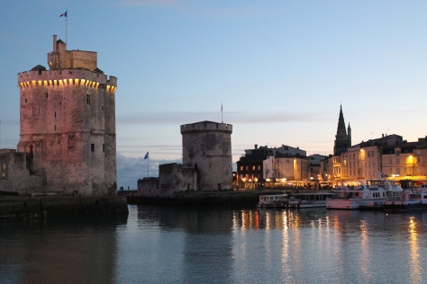 Not long after sunset, around 10:15 p.m. Waiting for Tour de la Chaine to light up.