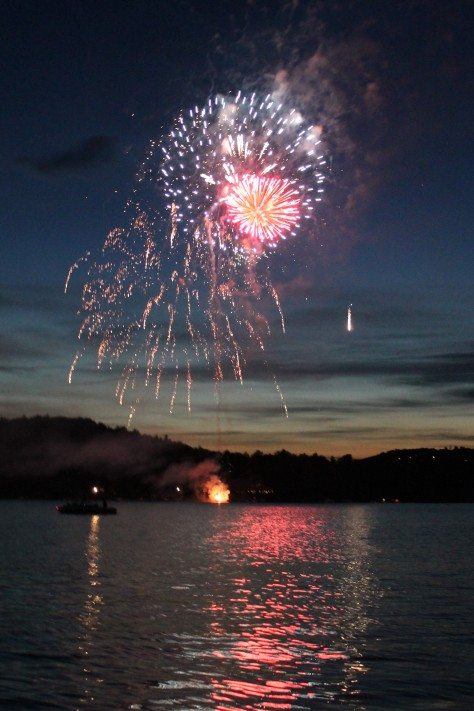 Fireworks over Lake Sunapee --  July 6th