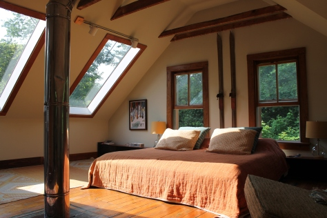 The Loft Bedroom at Four-Legged Farm