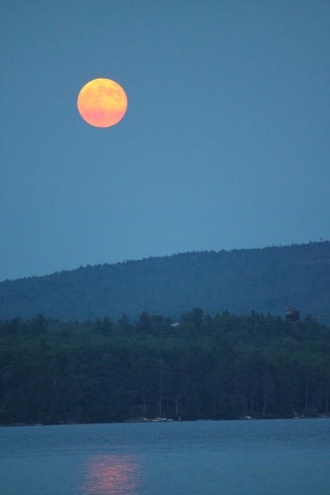 Full Moon Rising Over Lake Sunapee