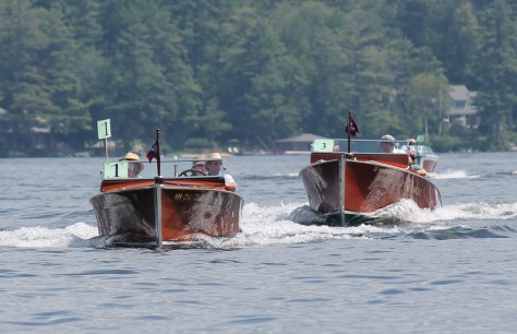 Antique Boat Parade, Lake Sunapee