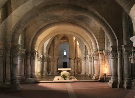 La crypte de l'église Sainte-Eutrope