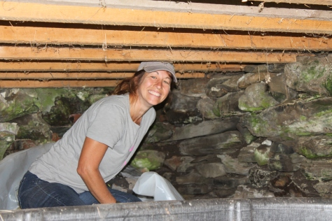 Diana being Farm-Girl -- Preparing the barn for hay storage