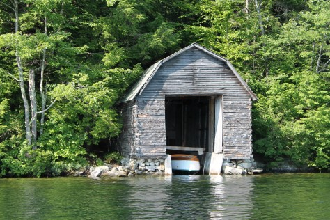 Old Wood Boathouse Enhanced