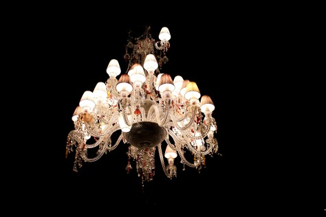 Baccarat Asymetrical Lampshade Chandelier