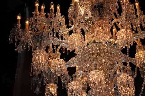 Baccarat Chandelier bronze and gold detail