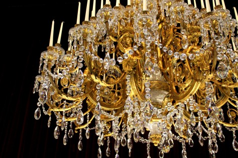 Baccarat Chandelier Gold and Crystal detail