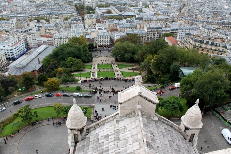 Front View from atop Sacre Coeur