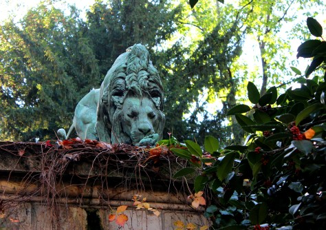 Jardin des Plantes, Paris -- Lion with Human Foot. Do NOT know where the REST of the human is!