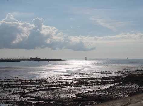 Looking out to sea from La Rochelle, October afternoon.