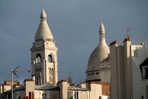 Sacré Coeur from our balcony