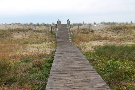 The walk to the beach