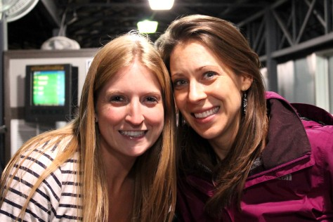 Chelsea and her friend Jen at Top Golf