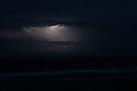 Lightning over Atlantic