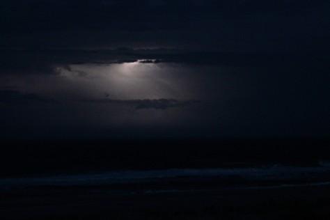 Lightning over Atlantic