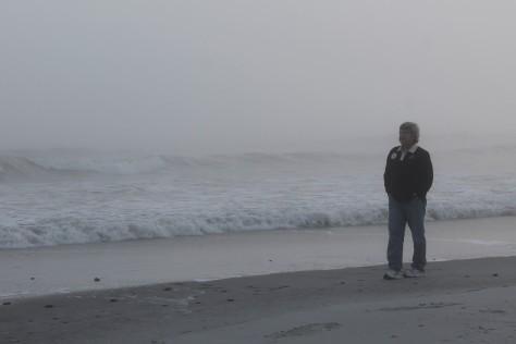 David on foggy Folly Beach