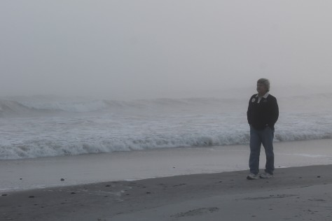 David on foggy Folly Beach