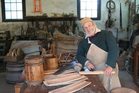 Doug Nesbit, the cooper at Middleton Place
