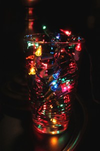 Glass of Christmas Light