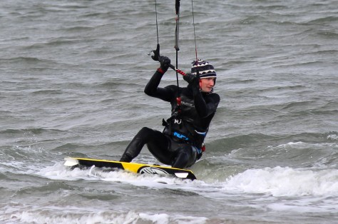 Ski-Hat Kiteboarder