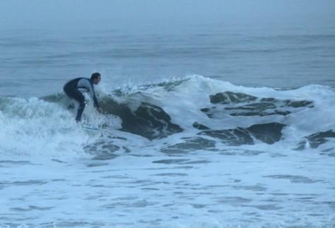 Surfer on Folly
