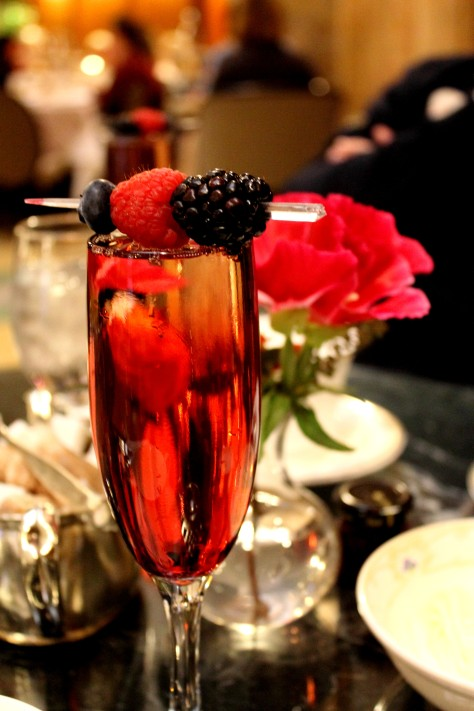 Kir Royale for Teatime at the Brown Palace Hotel