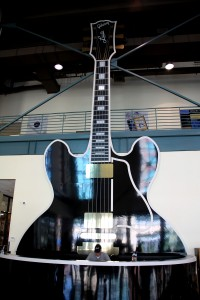 "Gibson Factory Front Desk with Image of B.B. King's guitar ""Lucille"""