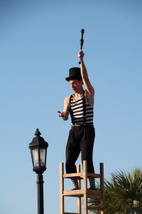 Juggler at Nightly Sunset Celebration,  Malory Square