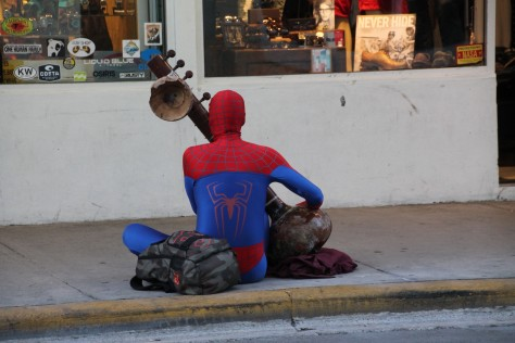 Spiderman on Duval Street