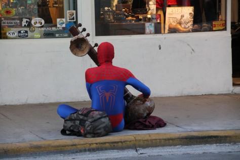Spiderman on Duval Street