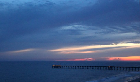 Sunset from Panama City Beach Condo Balcony