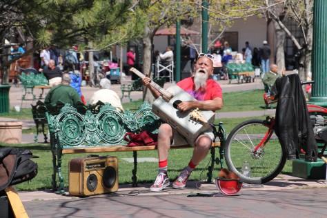 Suitcase Singer in the Santa Fe Plaza