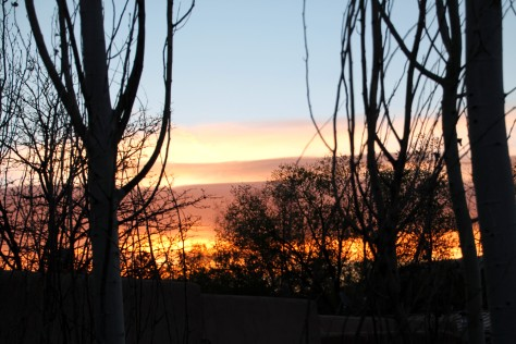 Sunrise over Santa Fe from the upstairs deck