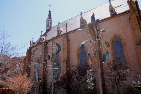 Wind Sculptures at Loretto Chapel