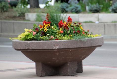 Sidewalk Flower Pots