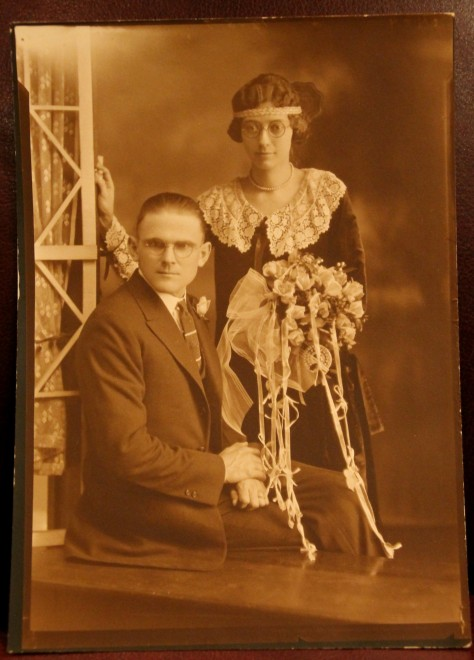 Dad's Parents' Wedding Photo -- circa 1925