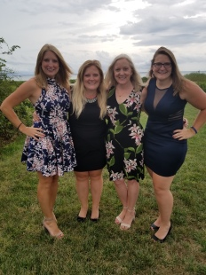 Chelsea, Courtney, Sunny, Brittany at Charlie and Catie's wedding